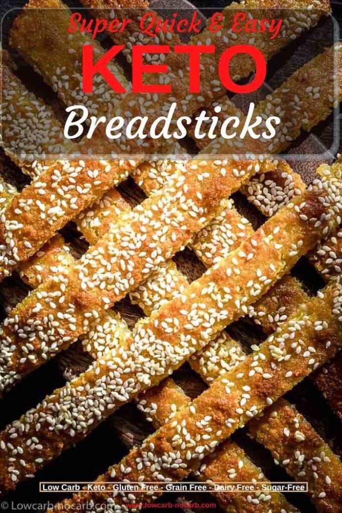 Egg Free Keto Bread Sticks