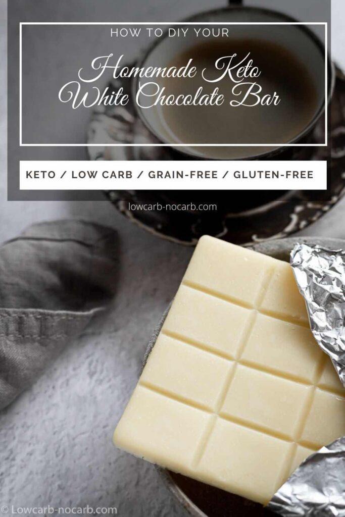 Keto & Low Carb White Chocolate