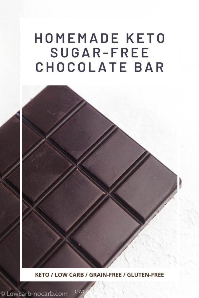 Homemade Keto Dark Chocolate Bar Recipe