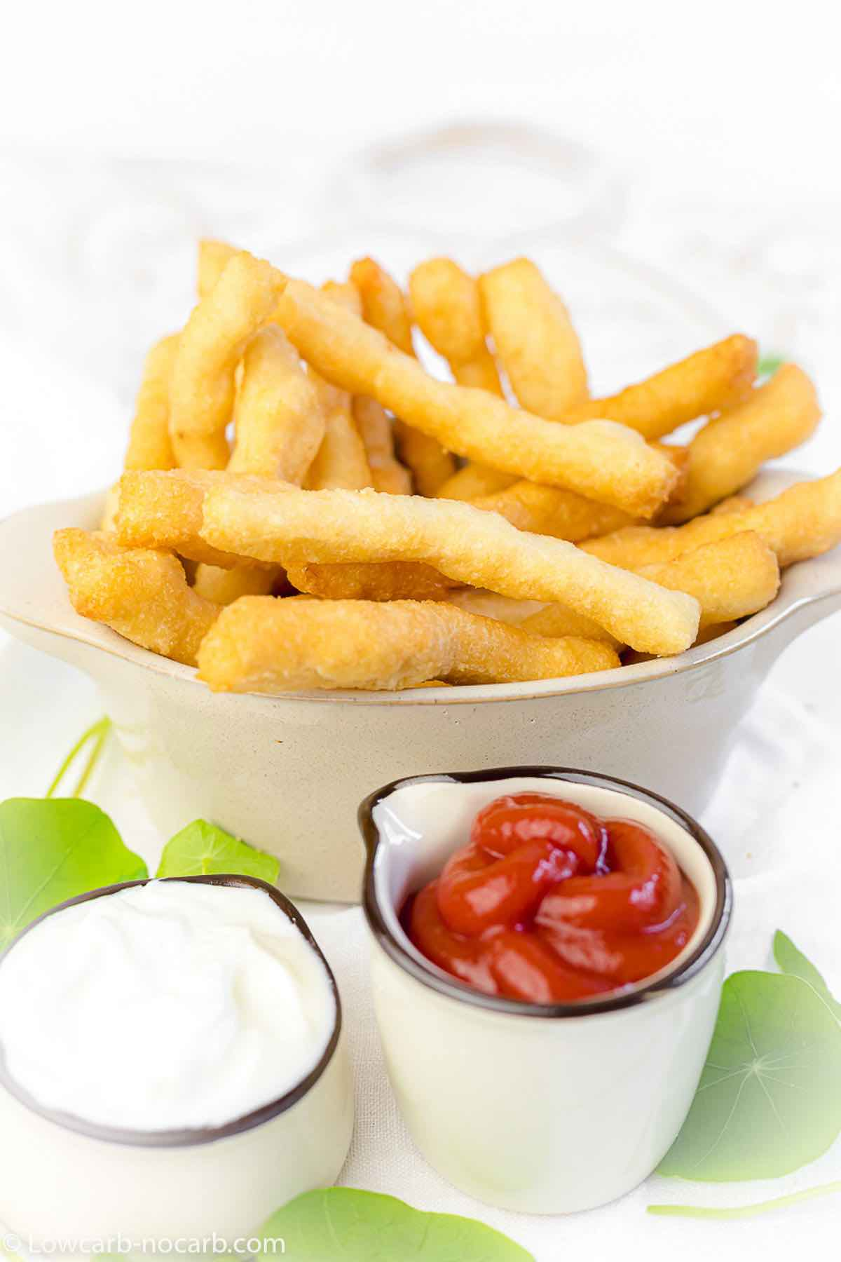 Nut Flour French Fries served with ketchup and mayonnaise
