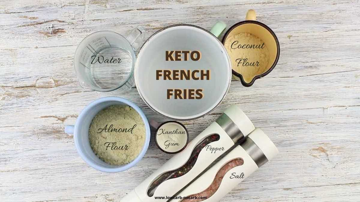 Best Low Carb French Fries ingredients needed