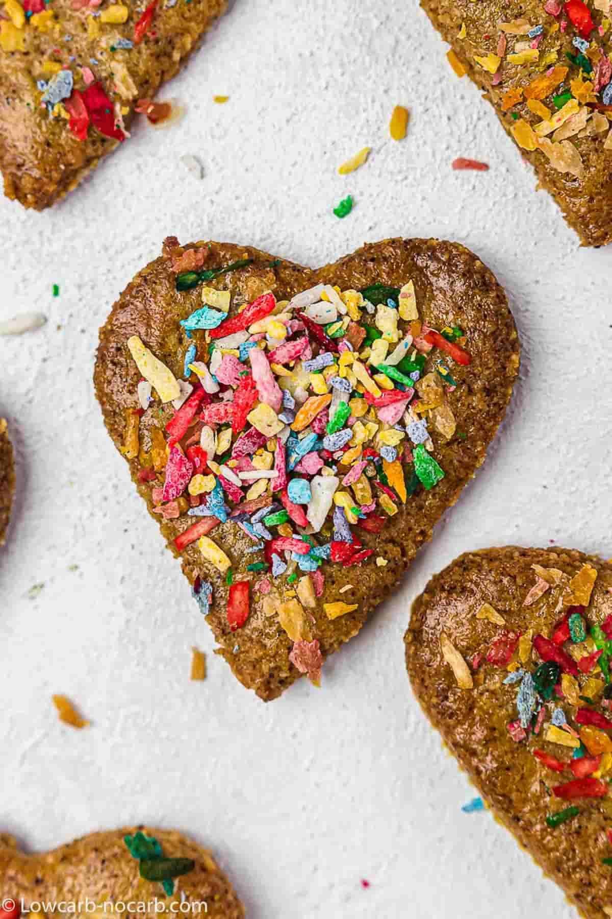 gingerbread cookies gluten-free with Sugar-Free Sprinkles on top