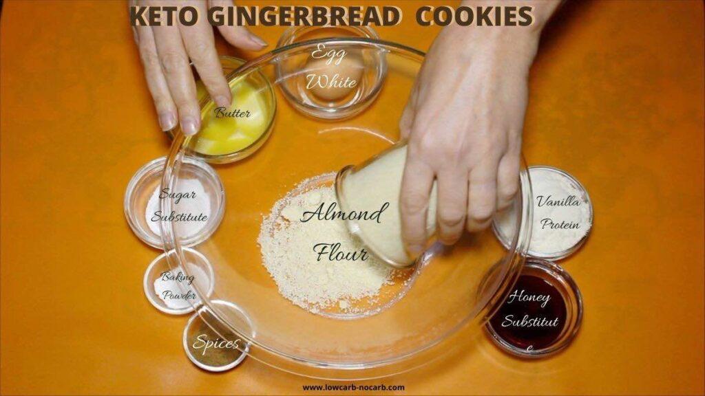 Keto Christmas Cookies ingredients needed