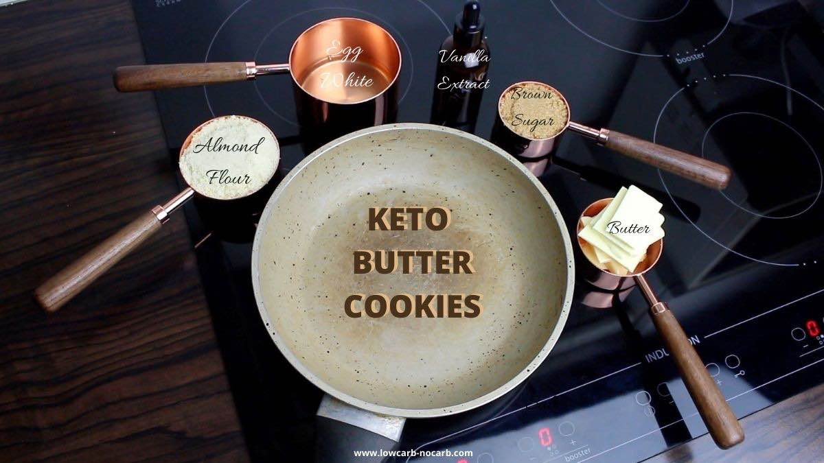 Almond Flour Keto Cookies all ingredients prepared for making the recipe