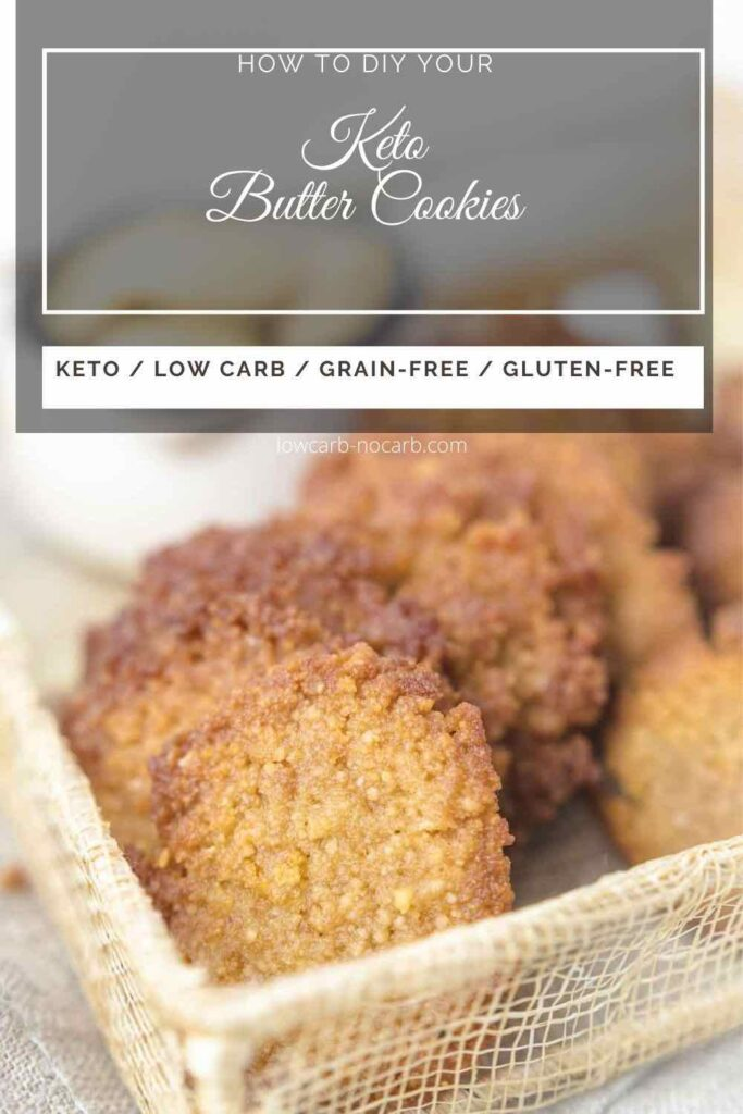 Low Carb Butter Cookies placed into the cream thread basket