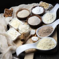 Keto and Low Carb Flour Substitutions in a various bowls