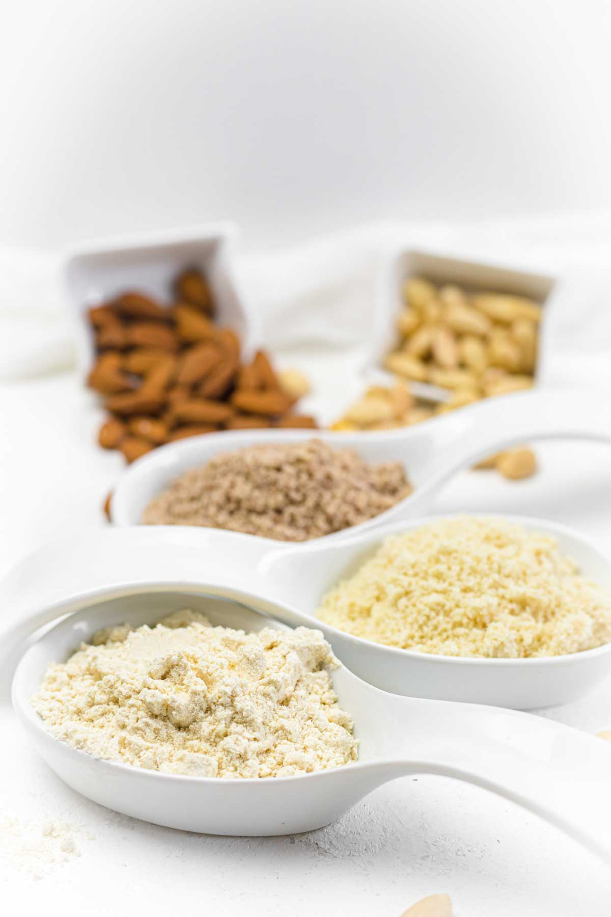 Almond Flour Unfatenned, regular and with skin grounded for Keto baking