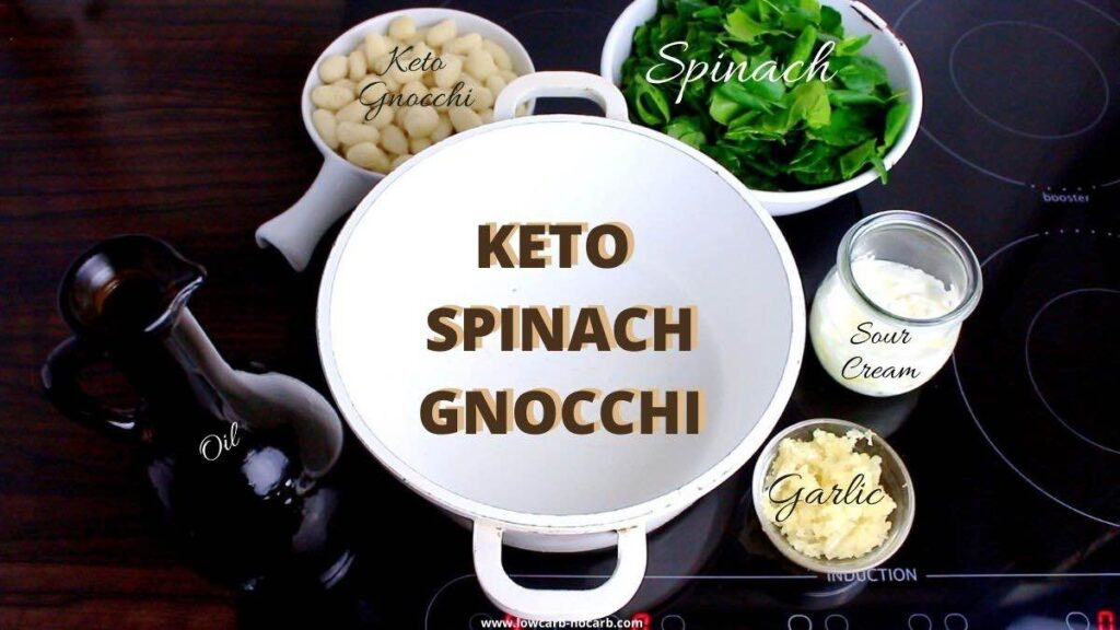 Low Carb Spinach Gnocchi ingredients needed