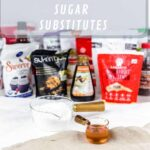 Low Carb Sweeteners various brands in the background