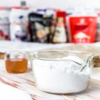 Keto Sugar Substitutes with brands in the background