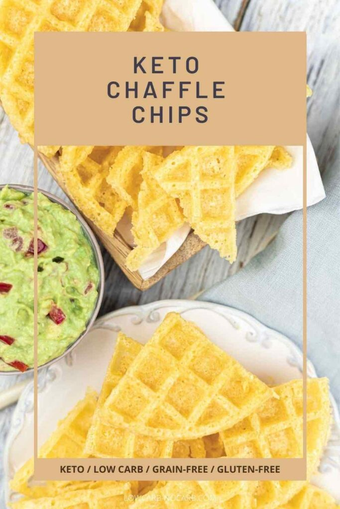 Chaffle Crisps with avocado spread