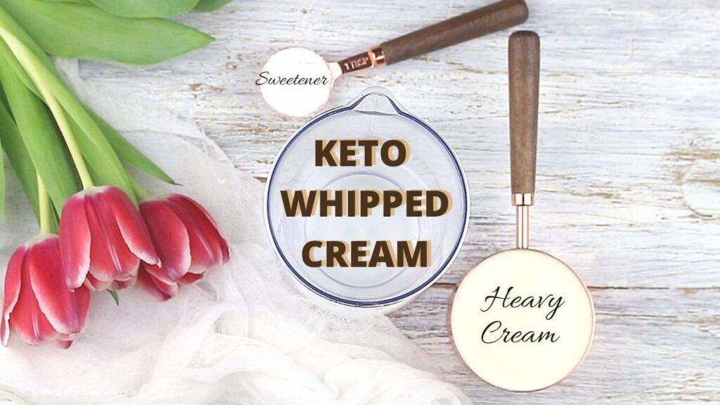 The Ultimate Easy Keto Whipped Cream ingredients needed
