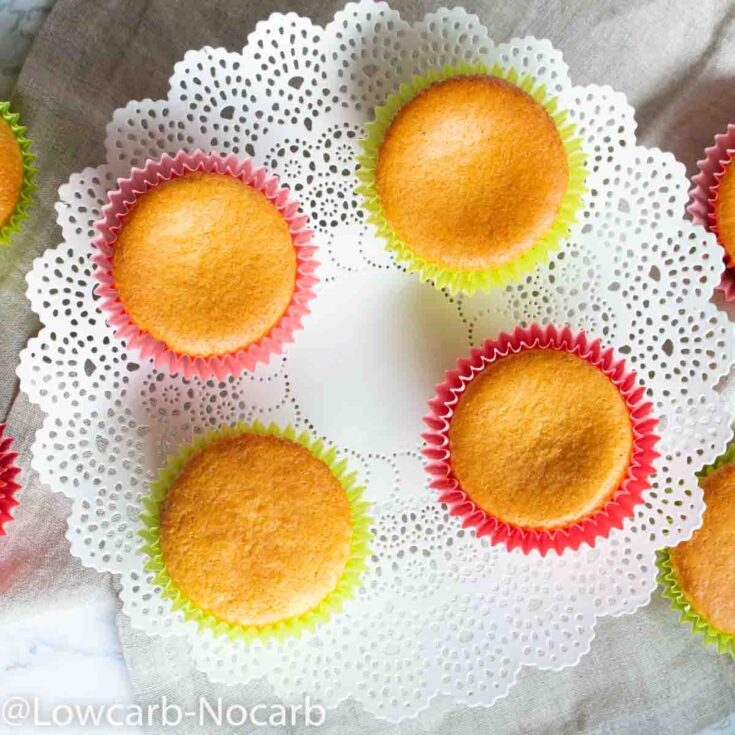 Low Carb Cupcakes without icing