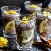 Coconut Pudding without milk in a shot glasses