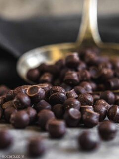 Sugar-Free Chocolate Chips close up