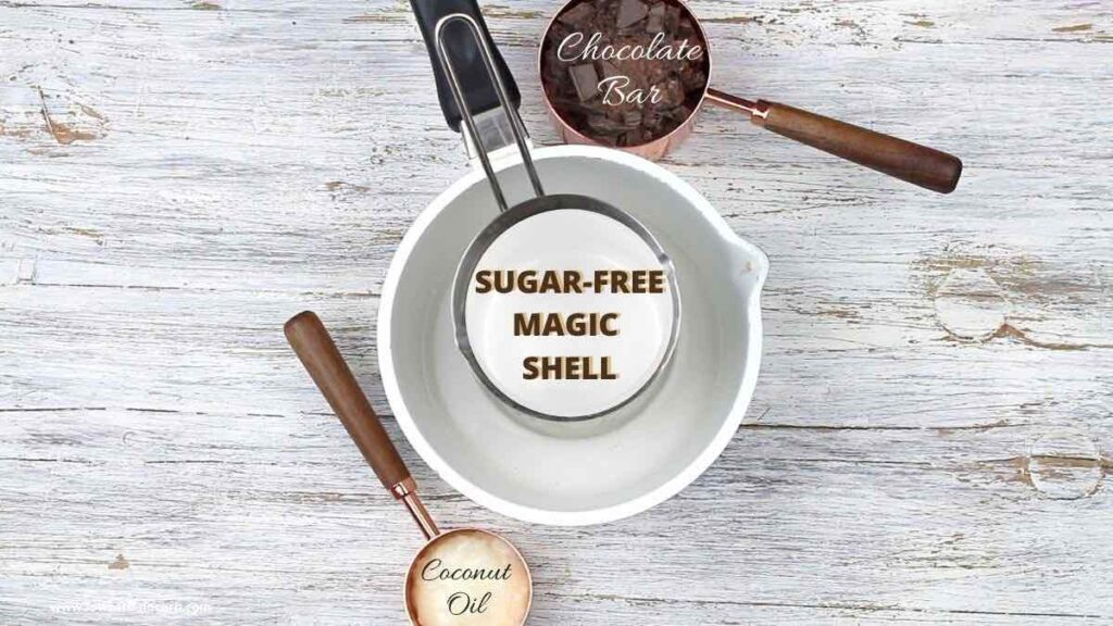 Sugar-Free Chocolate Magic Shell Syrup ingredients needed