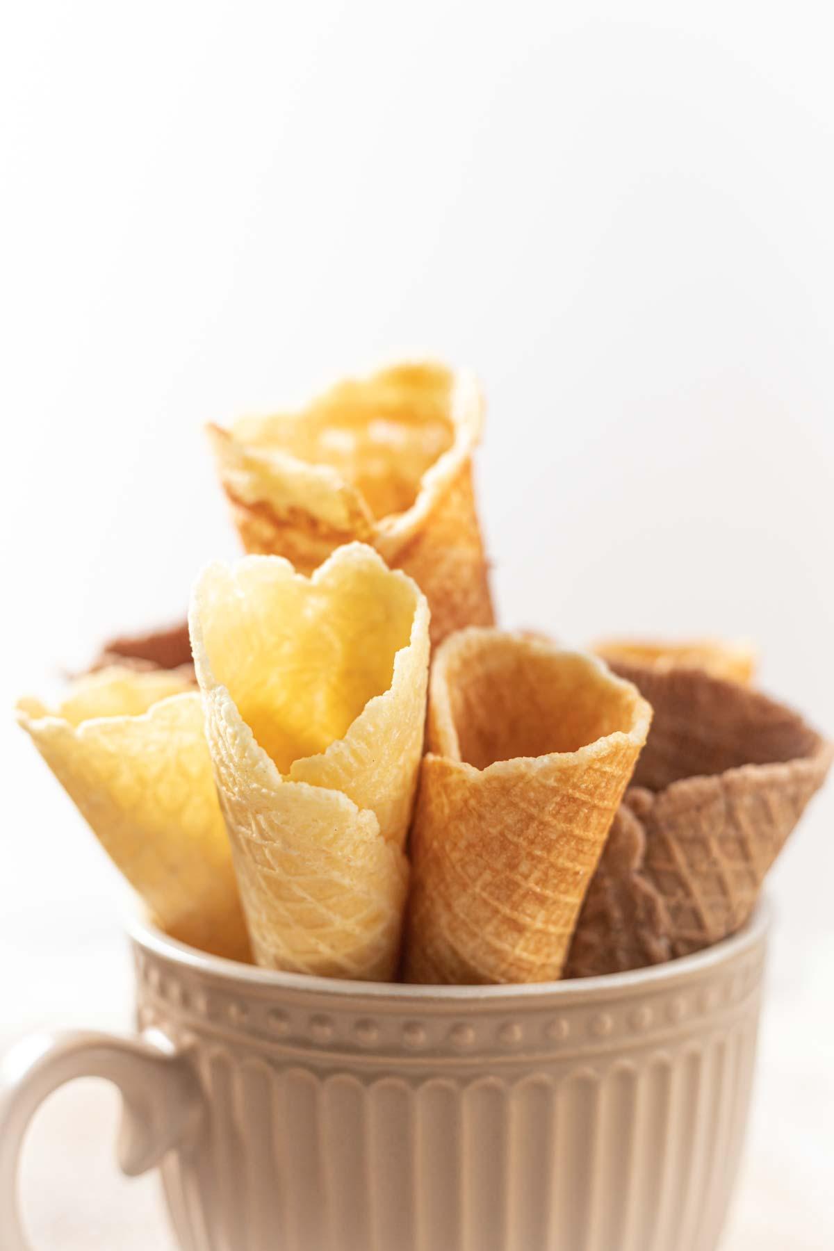 Sugar-Free Ice Cream Cones in a cup