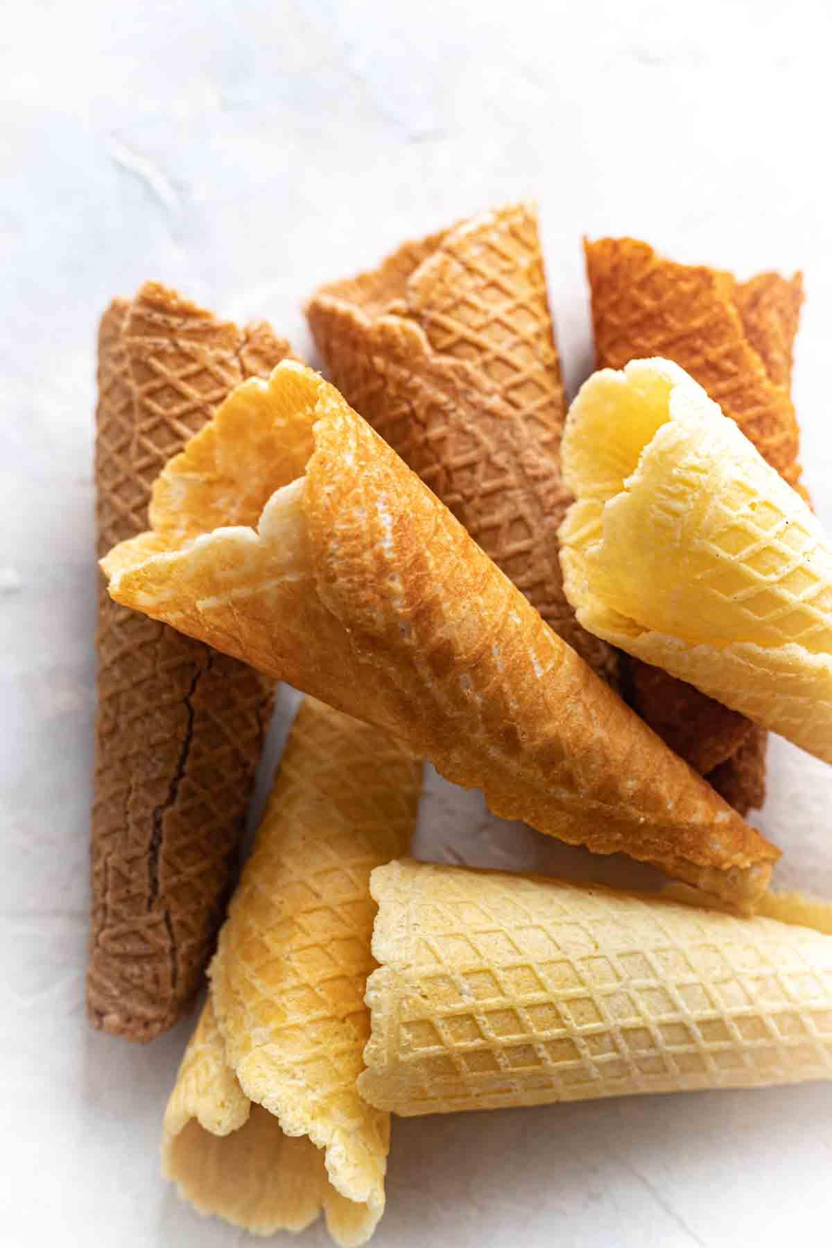 No Sugar Ice Cream Cones on a white board