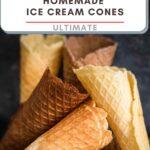 No Sugar Ice Cream Cones with grey background