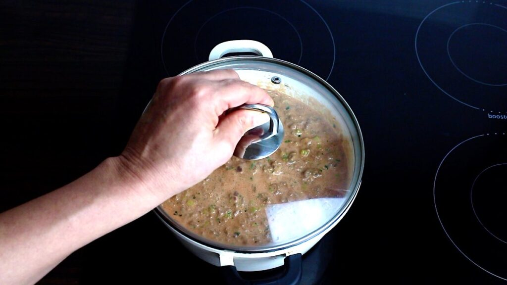 Authentic Keto Bolognese Sauce cooking the sauce
