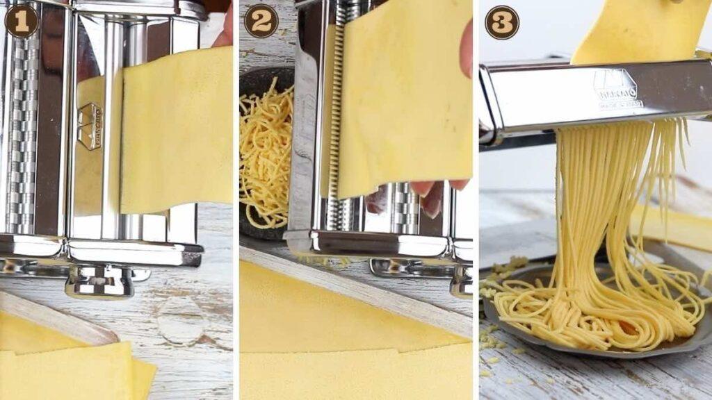 Keto Pasta Recipe making with Pasta machine