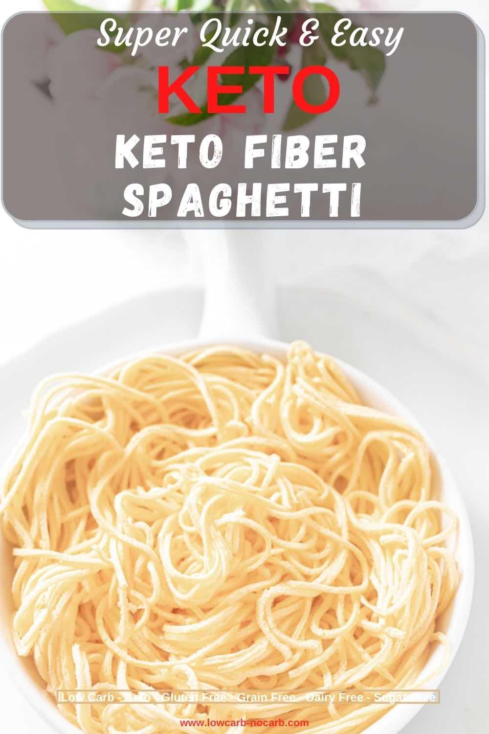 Keto Pasta Noodles on a white plate
