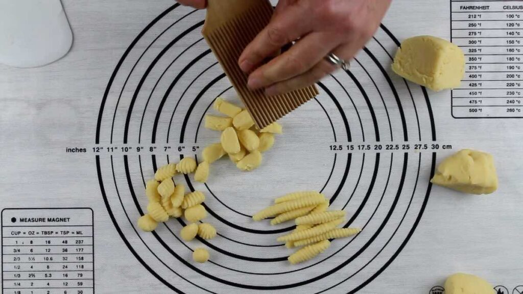 Low Carb Gnocchi tomato and basil shaping Fusilli