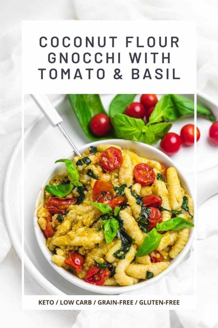 Homemade Keto Gnocchi tomato and basil