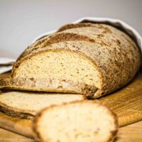 Low Carb Fiber Bread ready to serve
