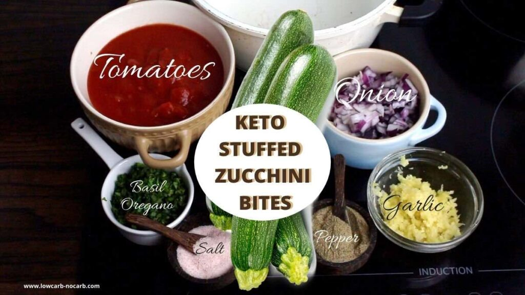 Keto Stuffed Zucchini Mini Bites ingredients needed