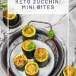 Quick & Easy Keto Zucchini Mini Bites served as appetizer