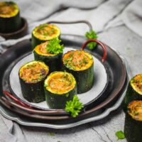 Keto Stuffed Zucchini Cups served as a party food