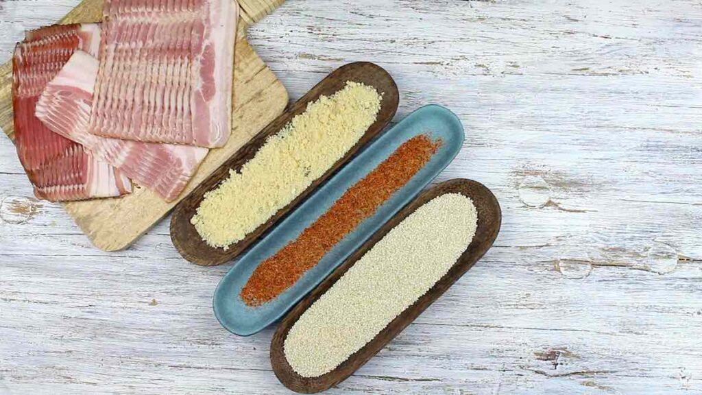 Bacon Sticks Recipe with various seasonings
