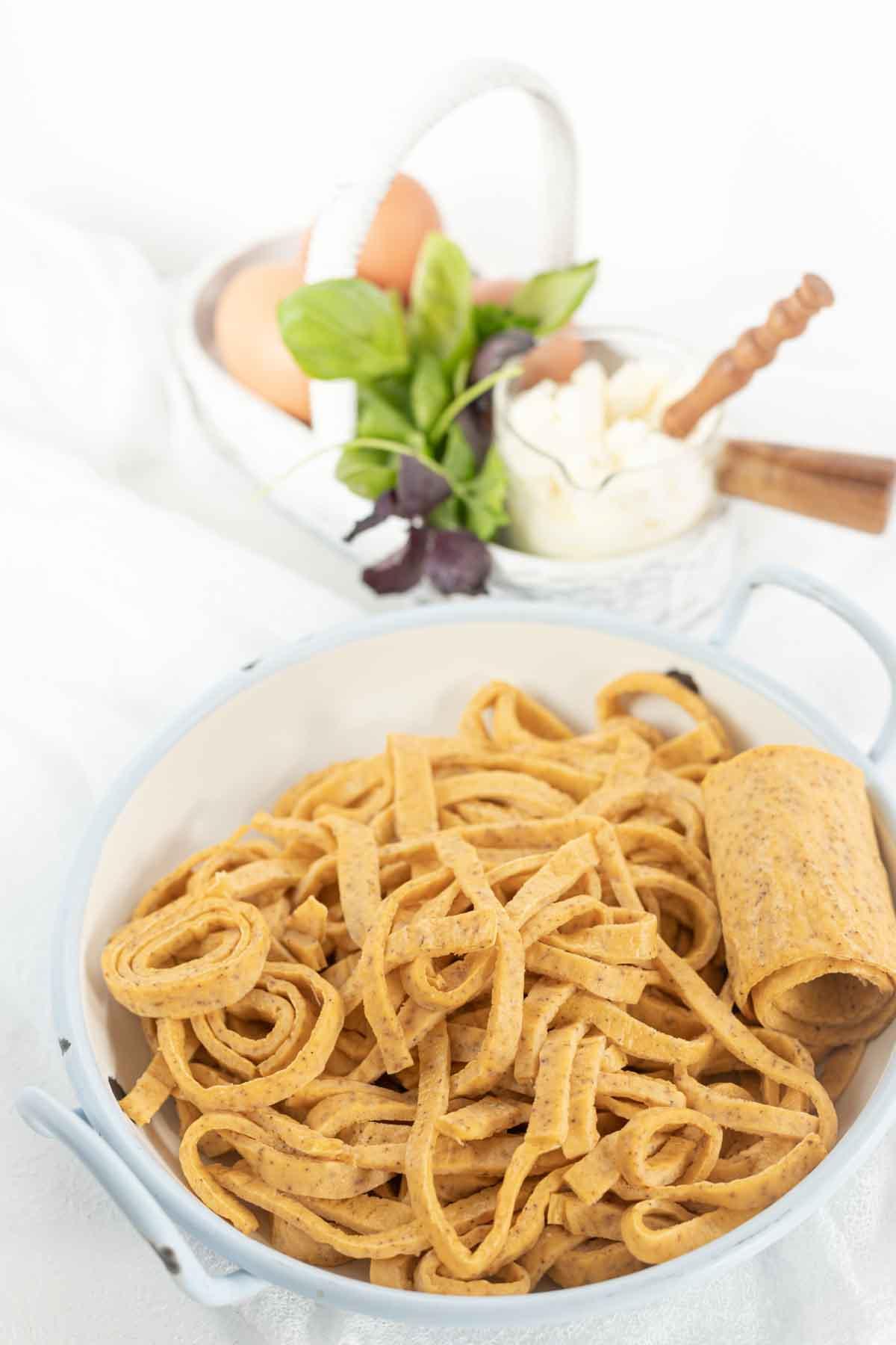 Low Carb Pasta Noodles in a bowl