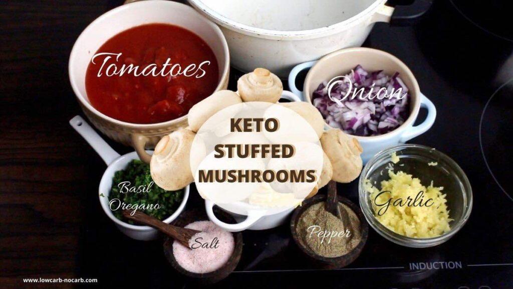Low Carb Stuffed Mushrooms ingredients needed