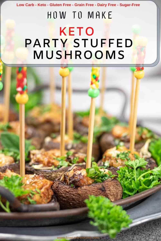Italian Stuffed Mushrooms on a stick