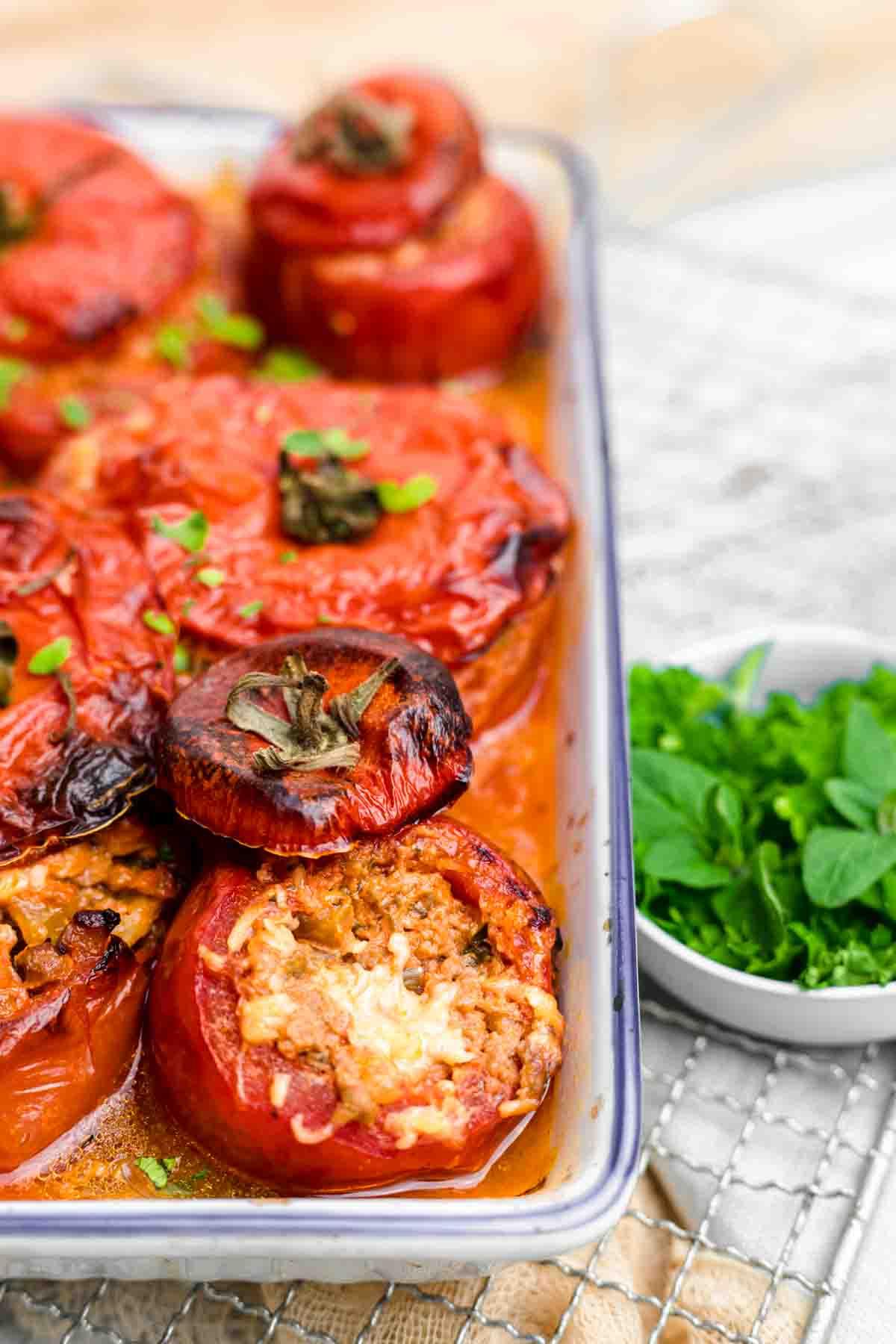 Stuffed Tomatoes Recipe fully baked