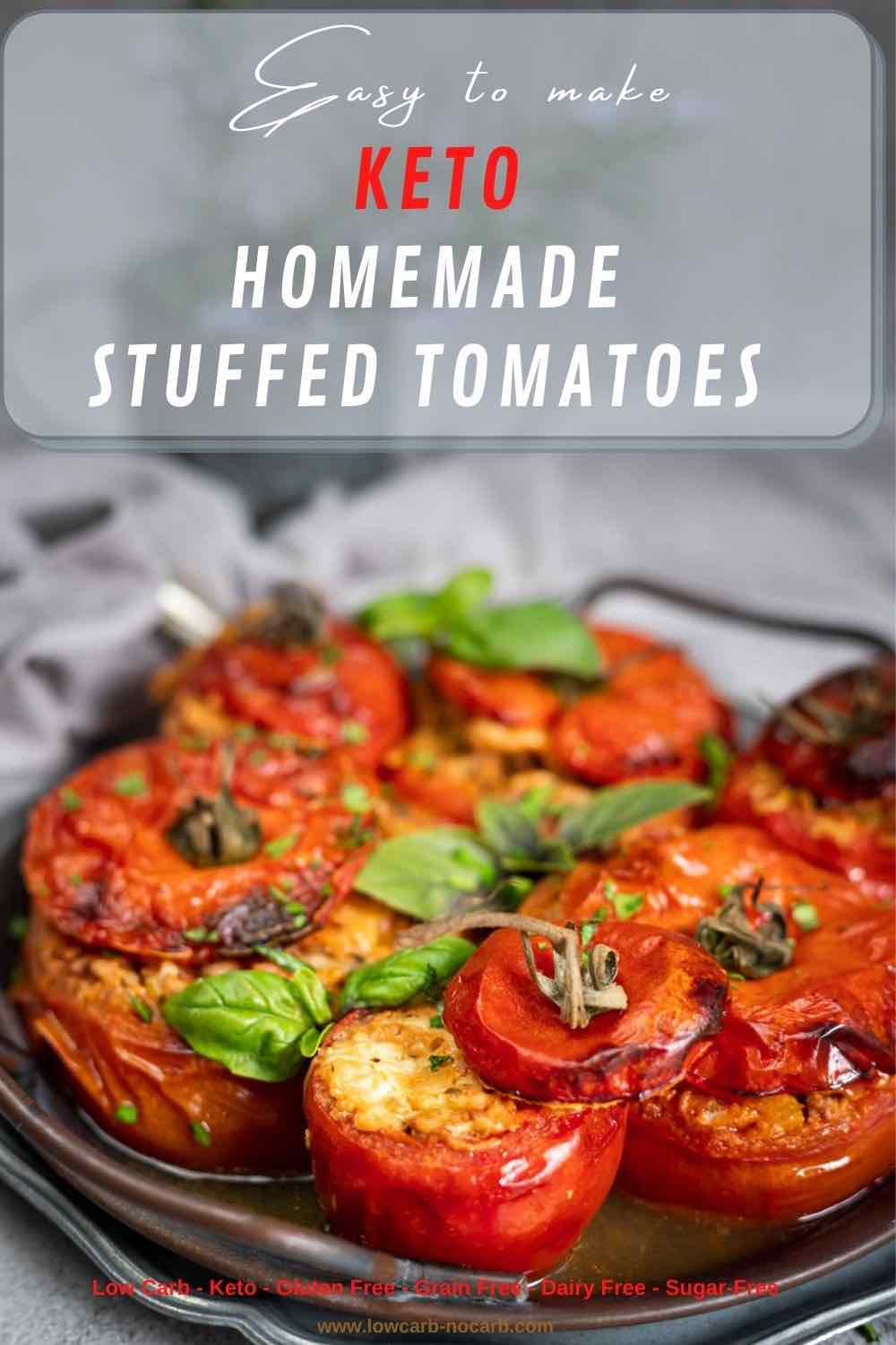 Ground Beef Stuffed Tomatoes Recipe served in a round plate