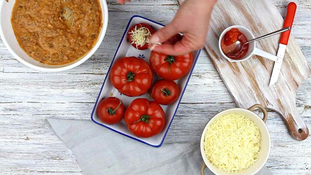 Keto Tomato Recipes filling with cheese