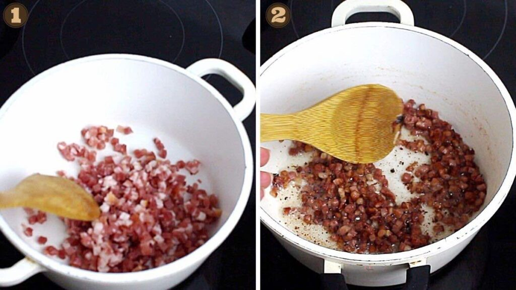 How To Make Keto pasta cooking bacon