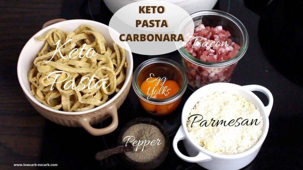 Keto Pasta Carbonara Recipe ingredients needed
