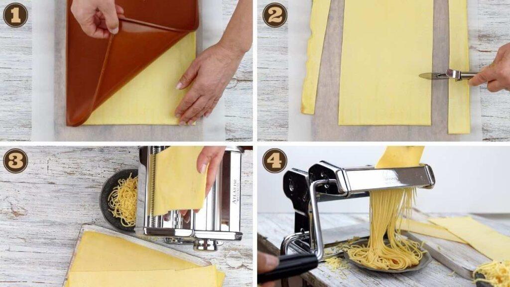 Preparing Low Carb Spaghetti