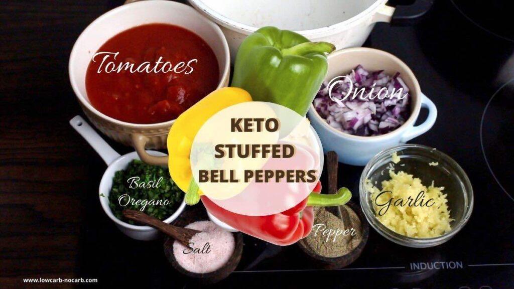 Easy Keto-Friendly Stuffed peppers ingredients needed