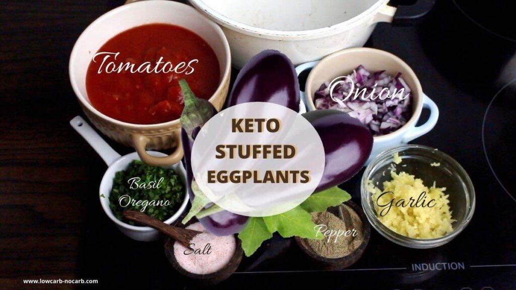 Keto Stuffed Aubergine ingredients needed