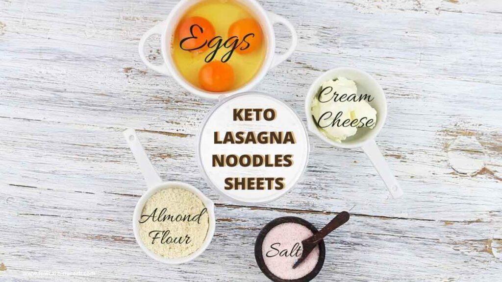 Homemade Keto Lasagna ingredients needed