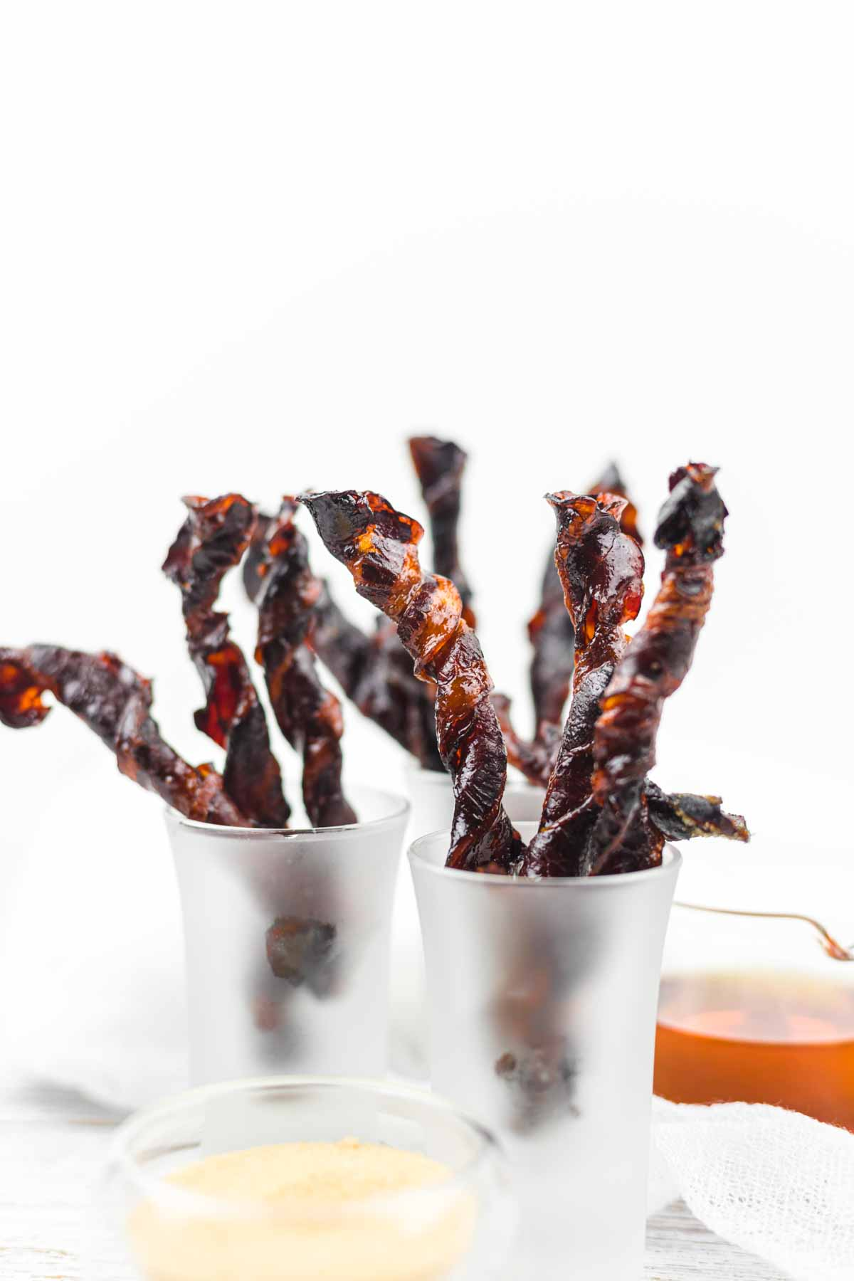 Brown Sugar Keto Bacon Twists as a Halloween snack