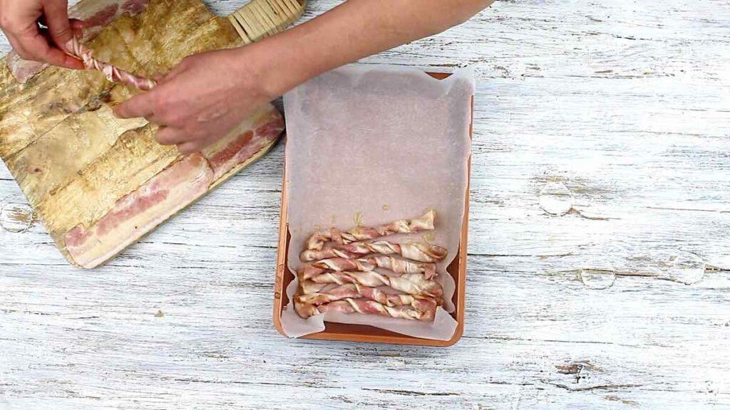 Sugar-Free Candied Bacon twisting bacon