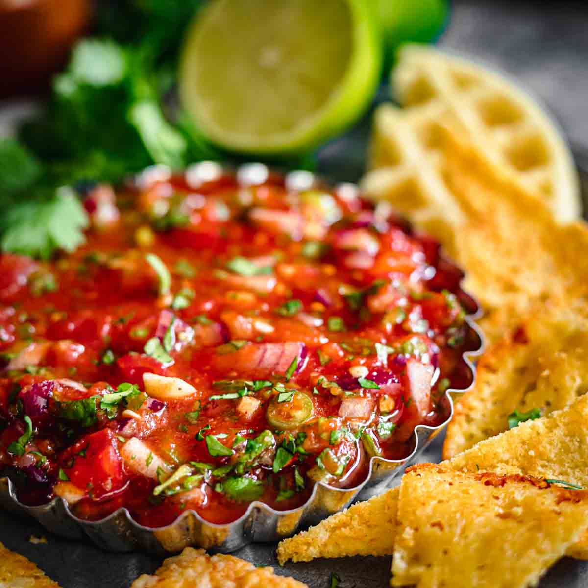 Sugar-Free Salsa served with Keto Chips