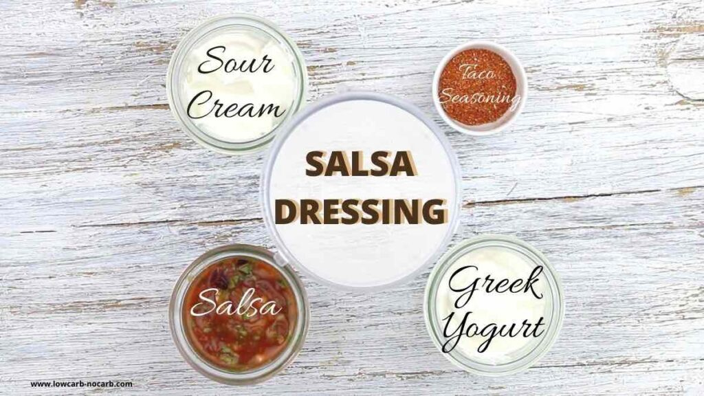 Creamy Mexican Salad Dressing ingredients needed