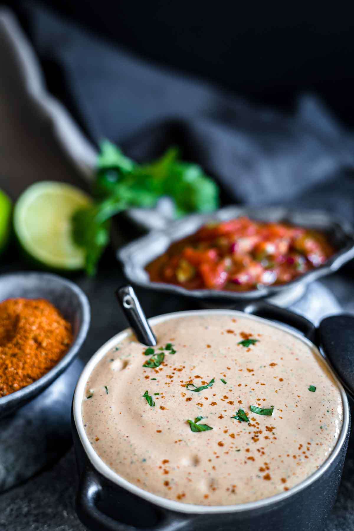 Creamy Mexican Salad Dressing in a bowl